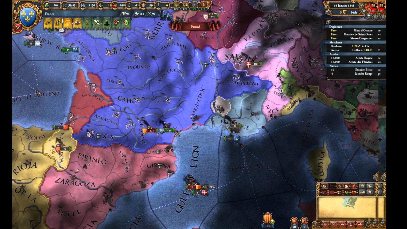 Europa Universalis IV: Mare Nostrum Cheats